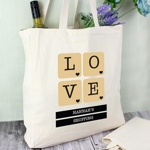 80f8dca0fd LOVE Tiles Personalised Cotton Bag