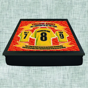 Watford Football Shirt Personalised Lap Tray Gift