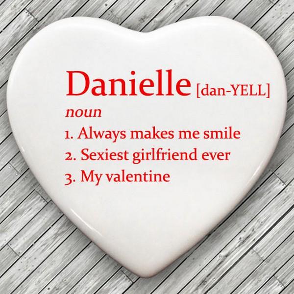Definition of My Valentine Personalised Heart Keepsake